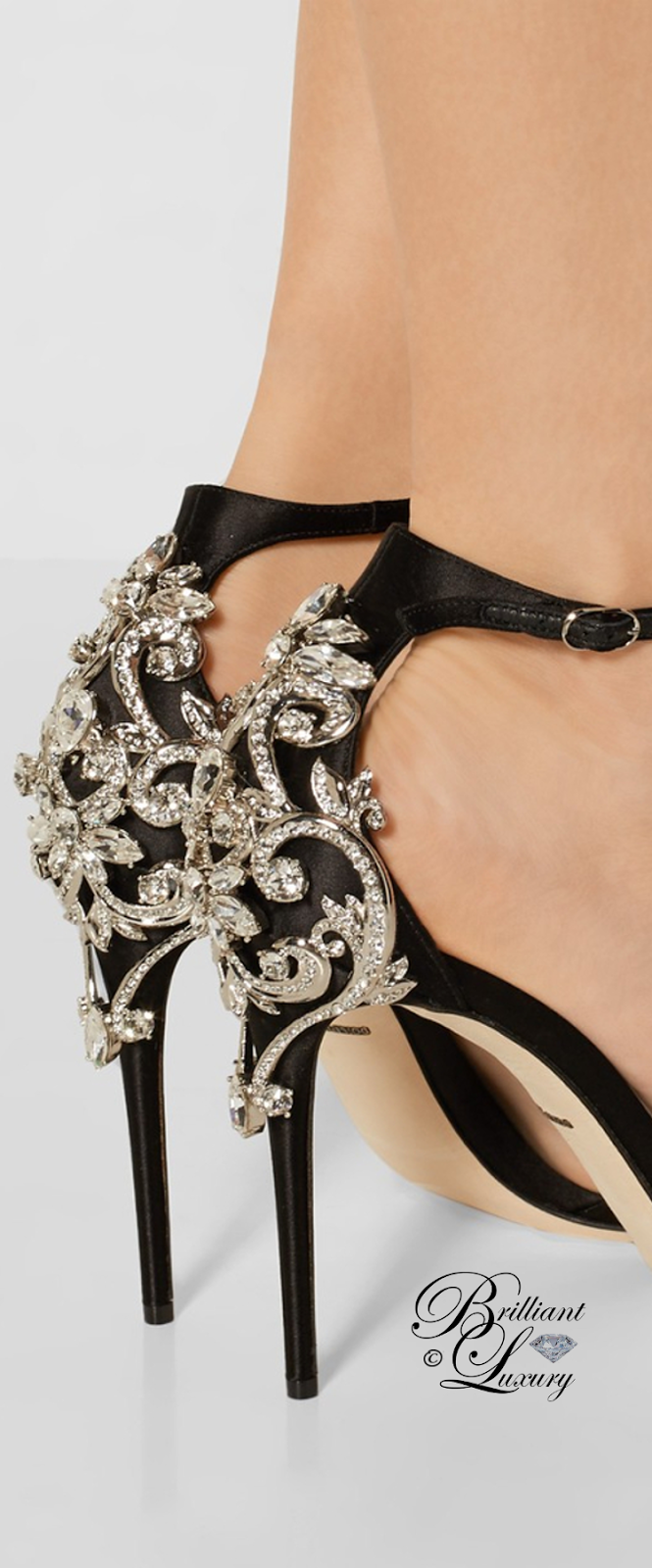 Brilliant Luxury ♦ Dolce & Gabbana Bejeweled Sandal