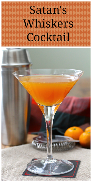 The Satan's Whiskers Cocktail is the perfect cocktail for fall. It's orange, which makes it perfect for October.