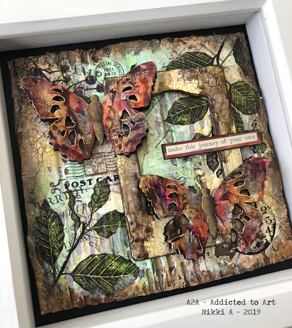 Tim Holtz Tattered Butterfly Shadow Box