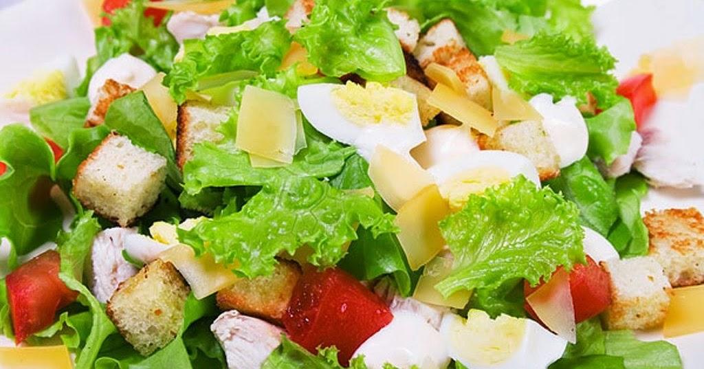 салат с цезарь с морепродуктами рецепт с фото
