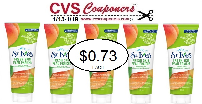 http://www.cvscouponers.com/2019/01/st-ives-facial-scrub-cvs-deal.html