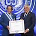 Canciller Miguel Vargas impone condecoración al embajador de Qatar en RD