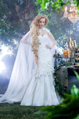 vestido noiva princesa disney wedding dress  rapunzel diferente estiloso moderno conto de fadas extravagante