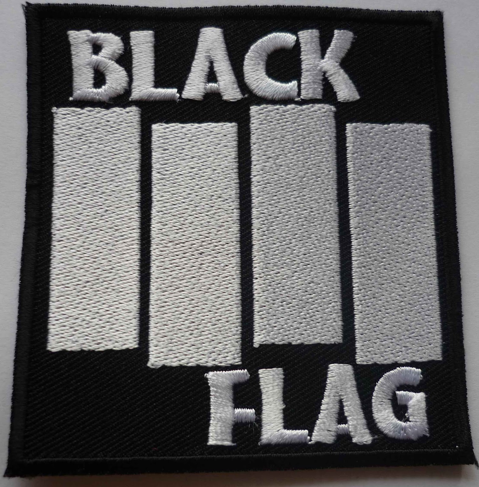 19a1e1018 Black Seeds Records  BLACK FLAG embroidered patch