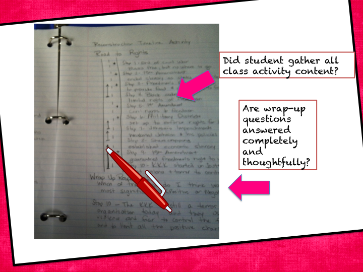 Grading in the Interactive Notebook Classroom