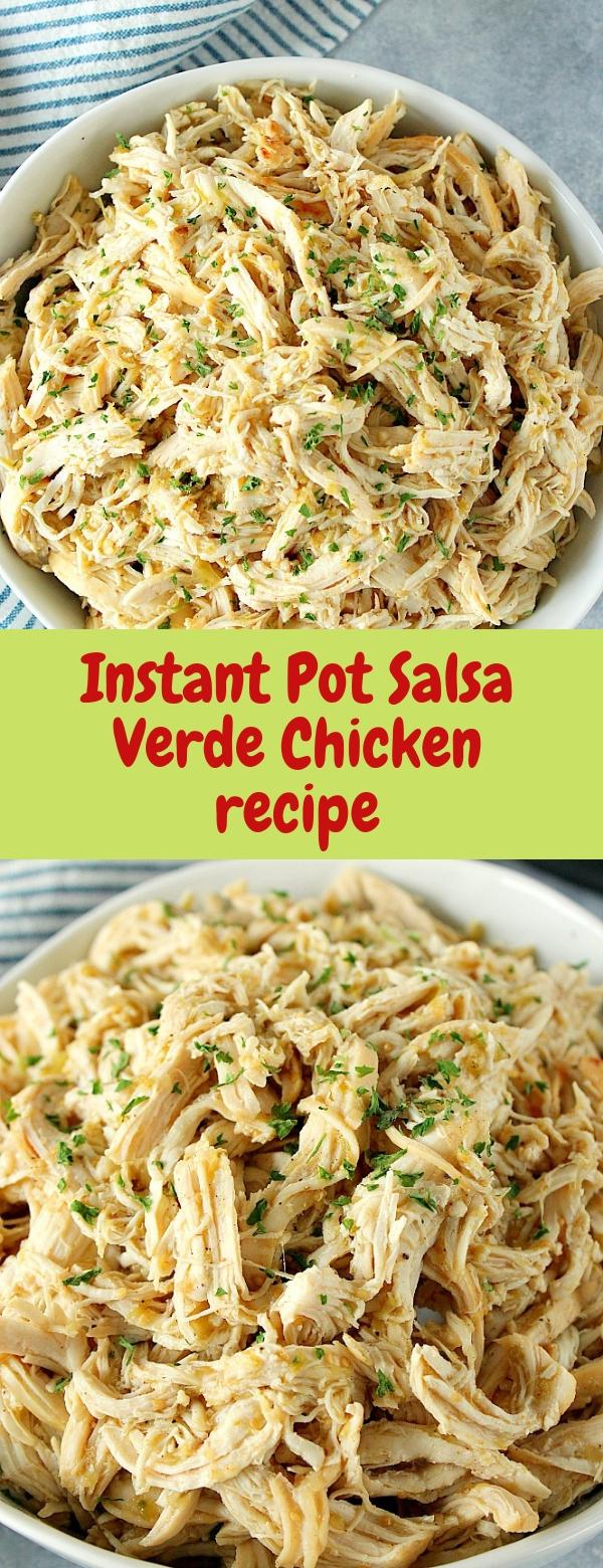 Instant Pot Salsa Verde Chicken recipe #INSTANTPOT