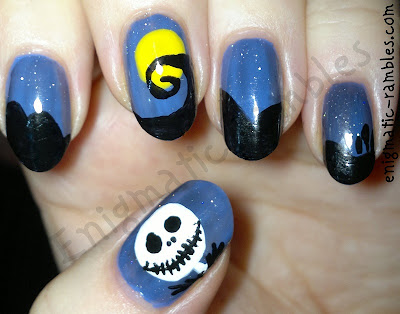 nightmare-before-christmas-jack-skellington-nails-nail-art-freehand-halloween