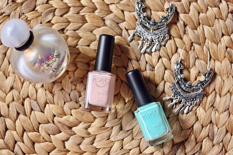 kiko milano nail lacquer swatches haul review mint milk nude blush