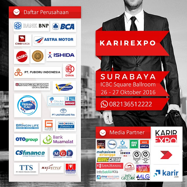 Jadwal Job fair Surabaya Terbaru 2016 - 2017