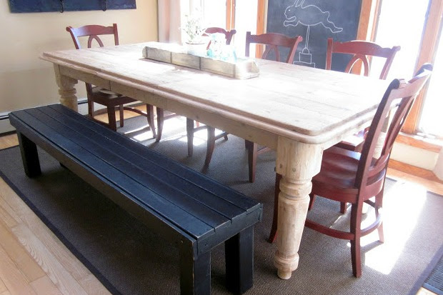 Making a DIY Farmhouse Bench for the Kitchen