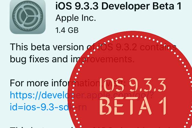 Apple has just released a new iOS 9.3.3 beta 1 for developer for testing on iPhone, iPad, and iPod touch. The update comes just one week after iOS 9.3.2 was released