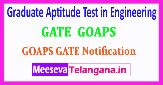 GATE Graduate Aptitude Test in Engineering 2018 Login Registration Notification Exam Dates