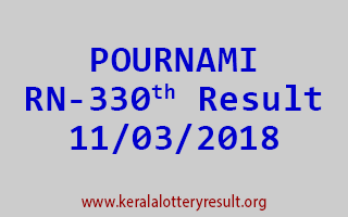 POURNAMI Lottery RN 330 Results 11-03-2018