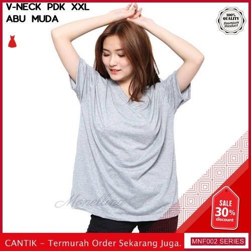 MNF002A134 Atasan Spandex Wanita V neck T shirt 2019 BMGShop