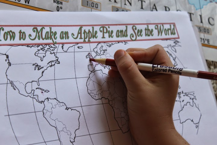 mapping How to Make an Apple Pie and See the World with Five in a Row