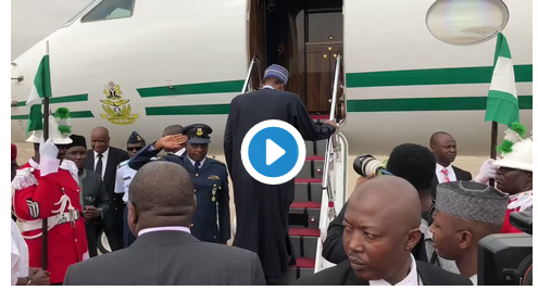 [VIDEO] Buhari departs Nigeria for United Kingdom, returning date unknow