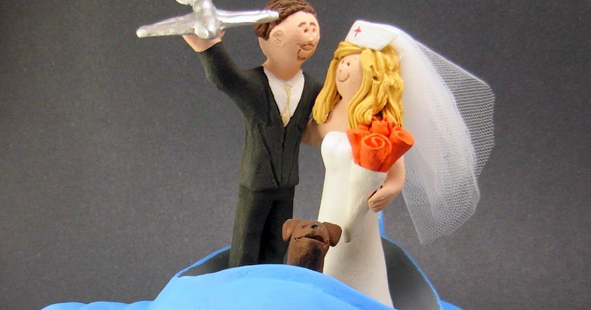 nurse wedding cake toppers custom wedding cake toppers aeronautical engineer marries 17951