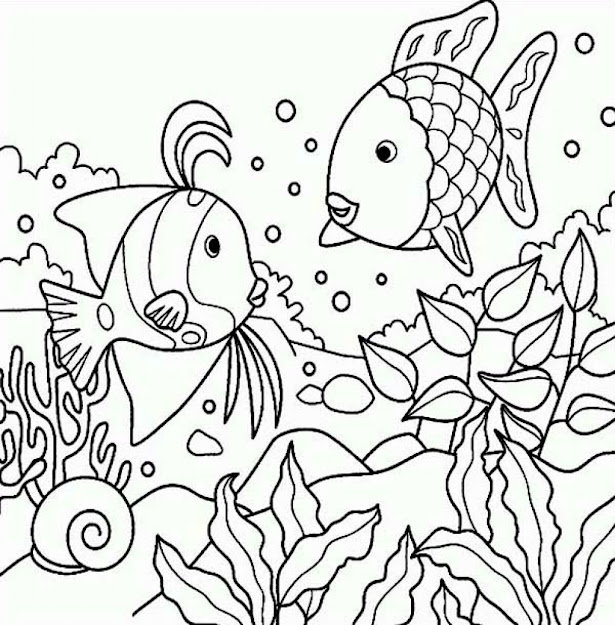 Pretty Under The Sea Coloring Pages Best Photos Of Under The Sea  Coloring Pages For Most