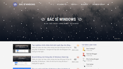 Tạo hiệu ứng tuyết rơi trang trí Noel tuyệt đẹp cho Blogspot