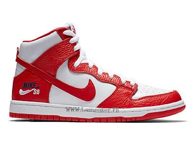 free shipping fa952 096ba Nike Dunk SB Low Pro Chaussures De Basketball Pas Cher Pour Hommes Blanc  rouge 854851-661