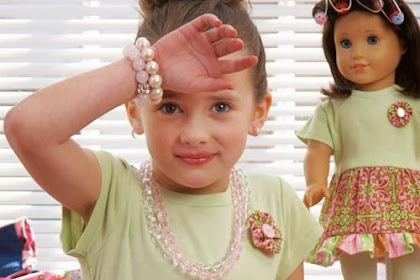 Sew Matching Flower Motifs for a Girl and Doll