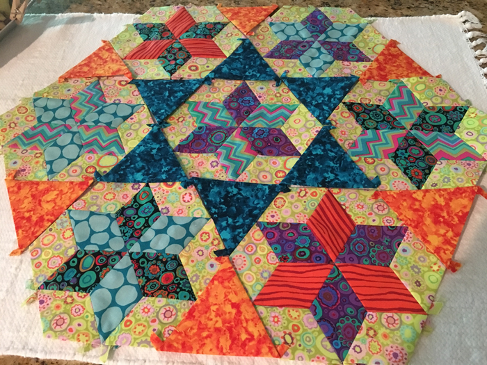 Debby Kratovil Quilts Seven Sisters With English Paper