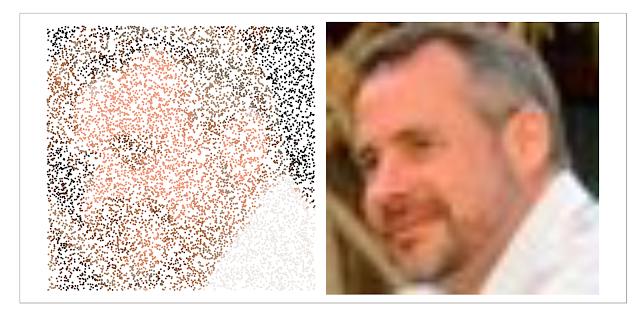 Visualizing Twitter Followers Using Pointillism