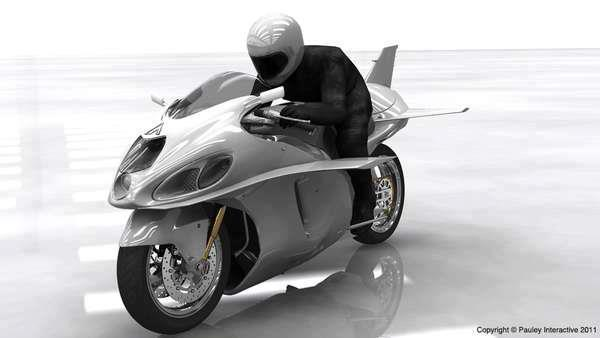 The Phil Pauley 'Bullet' is a High Speed Flying Motorbike