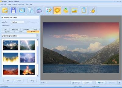 تحميل برنامج اللعب فى الصور اكثر من 1000 تاثير جاهز Photo Effects Studio 2016