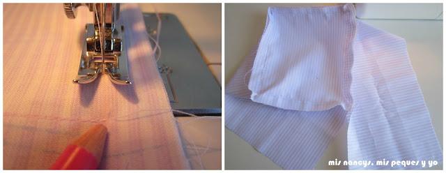 mis nancys, mis peques y yo, tutorial DIY funda cestas, coser cuatro lados de la base