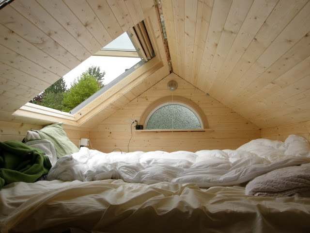 Skylights make small spaces look large