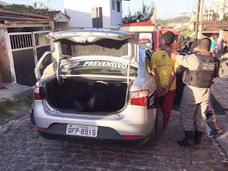 Suspeito de tentar queimar esposa e causar incêndio é preso na Paraíba