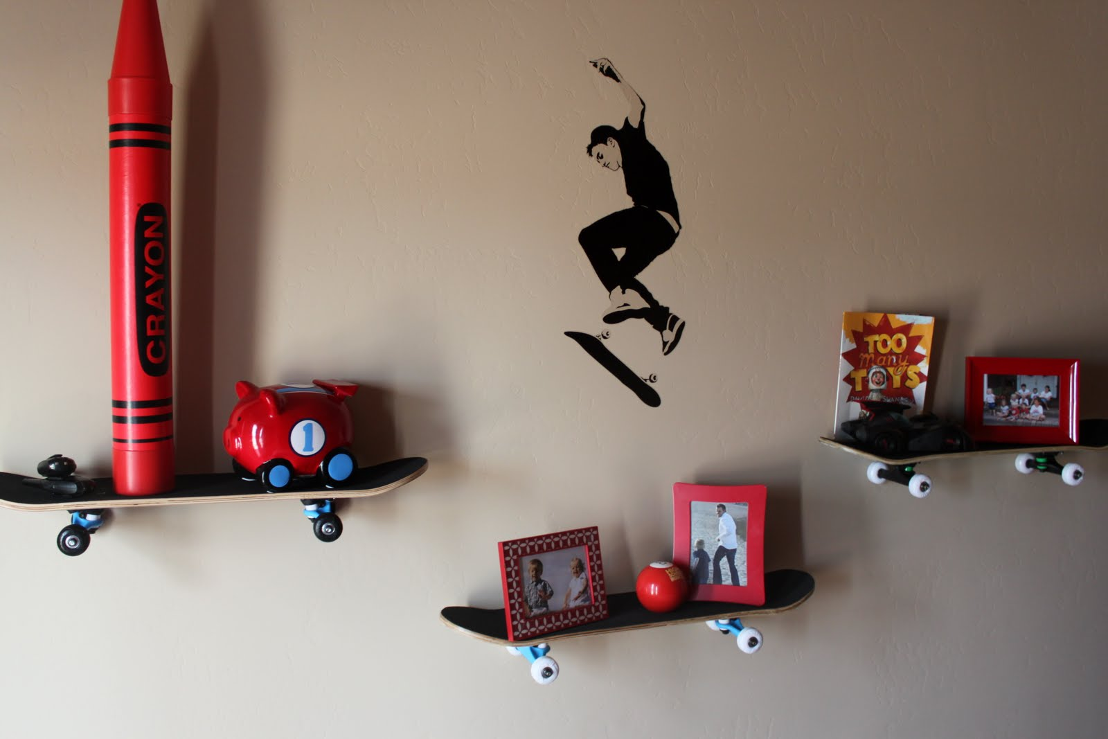 cool skateboard wall shelves ideas | Timeless: Skateboard Shelves