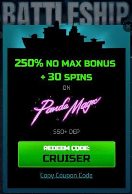 Monthly no max bonus offer from popular RTG casinos