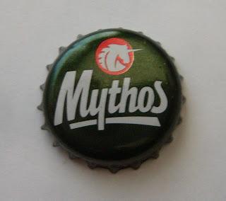 chapa de cerveza griega mythos