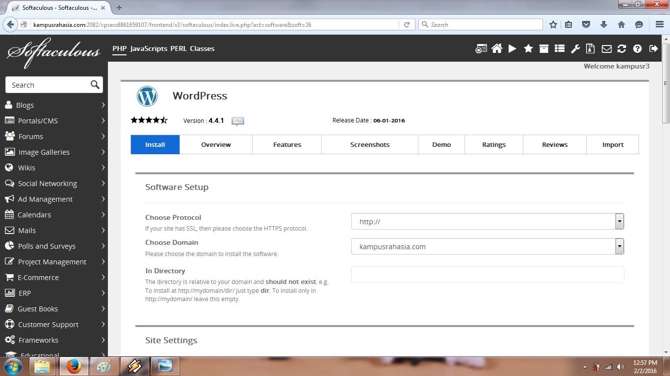 tutorial, hosting, beli, domain, wordpress, cara, blog