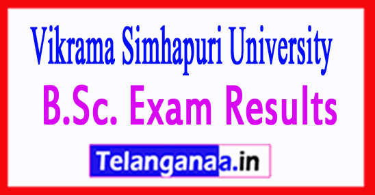Vikrama Simhapuri University B.Sc. Exam Results 2018