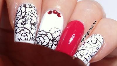 Lace Nail Design - Stamping Nail Art
