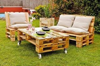 amueblar el jardin con palets de madera