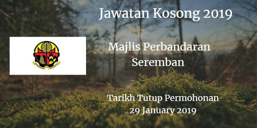 Jawatan Kosong MPSNS 29 January 2019