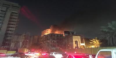 الحماية المدنية, حريق اندلع بشارع القصر العيني,