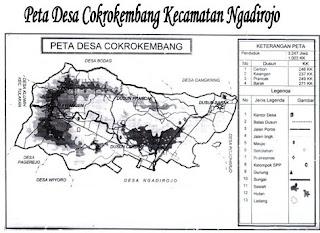 Peta Desa Cokrokembang Ngadirojo Pacitan