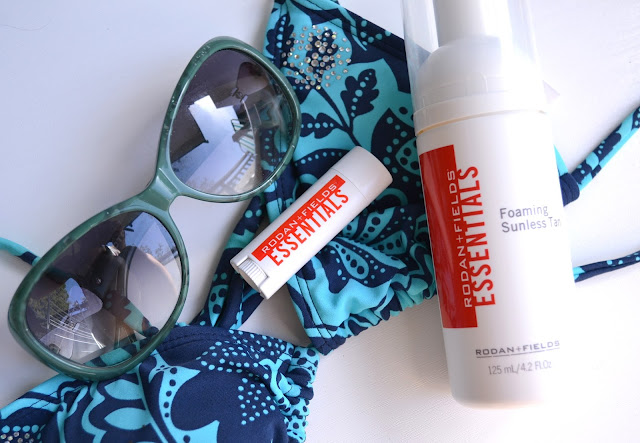 Rodan + Fields Foaming Sunless Tan and Lip Shield