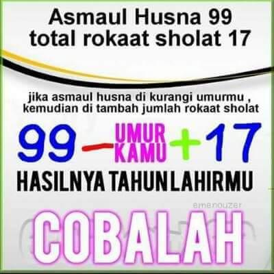 Matematika Ajaib ala 99 Asmaul Husna