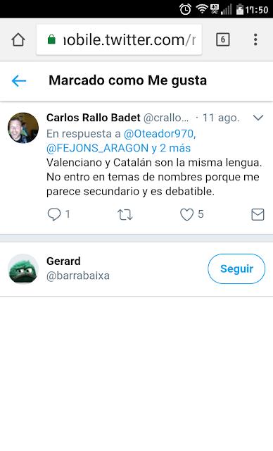 Carlos Rallo Badet , valenciano, catalán, misma lengua