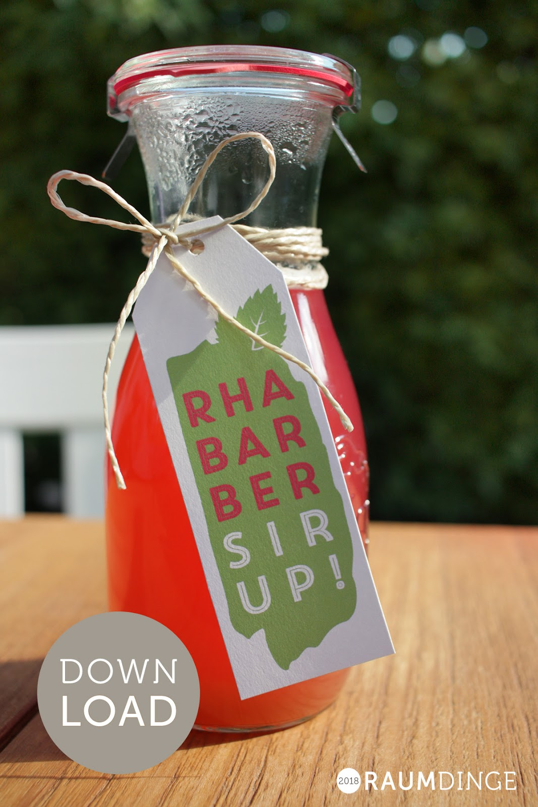 Rhabarber, Sirup, DIY, selbst gemacht, Etikett zum Download