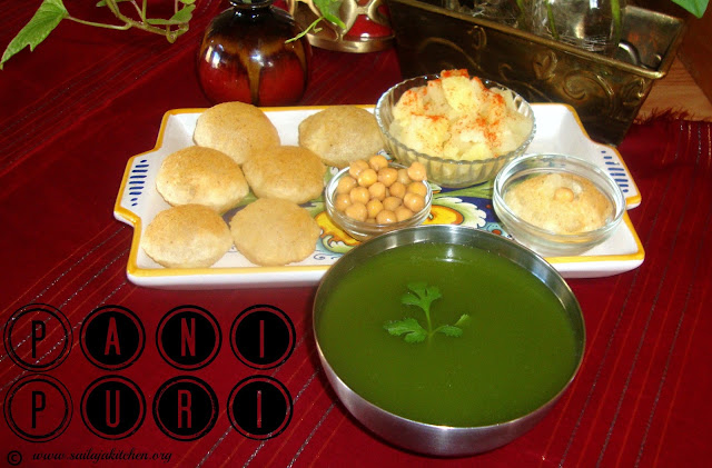 images of Pani Puri Recipe / Pani Poori Recipe / How To Make Pani Puri