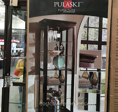 Have valuables on display with the Pulaski Display Cabinet