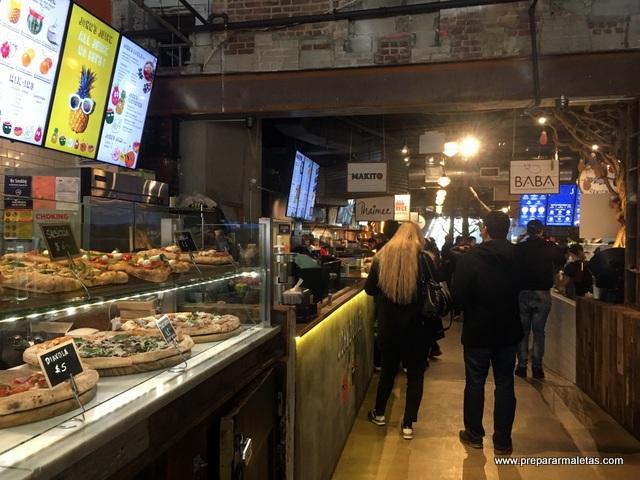 comiendo en nueva york mercados