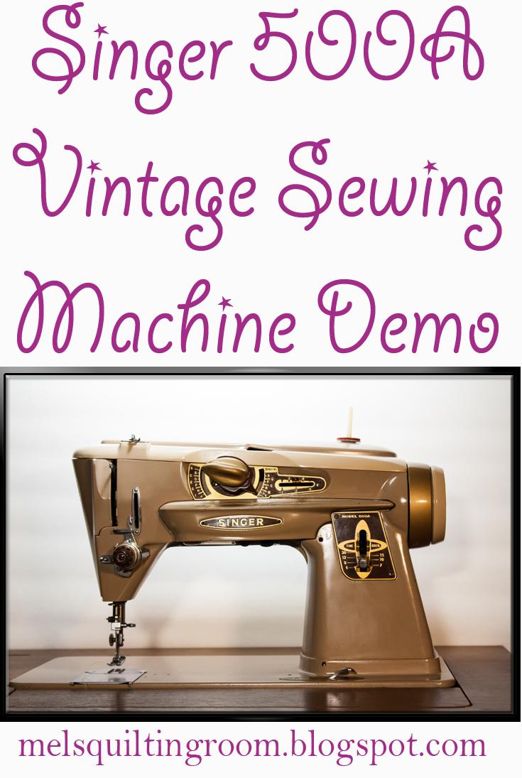 singer 500a rocketeer sewing machine